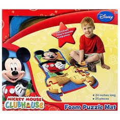Mickey Mouse Clubhouse Foam Puzzle Mat [25 Pieces]