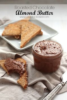 4-ingredient Roasted Chocolate Almond Butter
