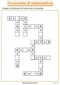 Giochi di Matematica sulle Addizioni per Bambini da Stampare | PianetaBambini.it Kindergarten Reading Activities, Numbers Kindergarten, Kindergarten Math Worksheets, Teaching Math, Math Activities, Math 4 Kids, Fun Math, Mental Maths Worksheets, Math Resources