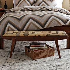 I love the Kuba Crescent Bench - Neutral Graphic on westelm.com