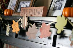 """""""Gratitude Garland"""" DIY Thanksgiving ,i think I'll do this with the gratitude notes from years past"""