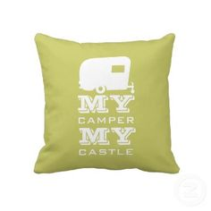 My Camper My Castle - RV Camping Pillow throwpillow