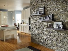 I LOVE the stone & shelves.