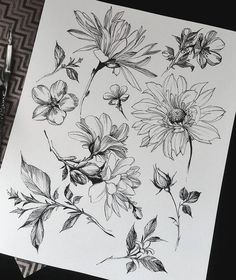 Эскизы небольших тату с цветами