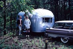 The new Airstream trailer, 1963    Photo by Walter Reed