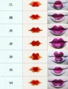 ᶫᵒᵛᵉღ How to create cool Geisha lips! ᶫᵒᵛᵉღ How to create cool Geisha lips! Beauty Nail, Beauty Makeup, Makeup Style, Cosplay Makeup, Costume Makeup, Maquillage Halloween, Halloween Makeup, Halloween Kostüm, Costume Geisha