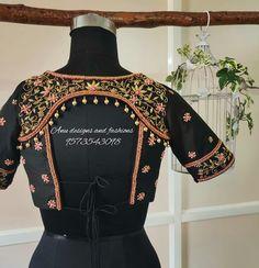 Latest Trending Silk Saree Blouse Designs To make it ea. - Latest Trending Silk Saree Blouse Designs To make it easier for you, we ha - Blouse Back Neck Designs, Stylish Blouse Design, Fancy Blouse Designs, Wedding Saree Blouse Designs, Silk Saree Blouse Designs, Designer Blouse Patterns, Sarees, Indian Fashion, Women's Fashion
