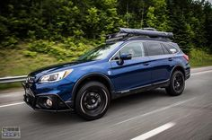 "Make: Subaru Model: Outback 2.5i groupe Tourisme / Option Ensemble TechnologieYear: 2016 Color: Bleu lapis nacré Modifications: Tires: 245/65R17 BFGoodrich All Terrain T/A KO2 Wheels: Fast Wheels FC-01 17x8+40 - Discontinued Lift kit: 2"" LP Aventure Skid plate: LP Aventure Bumper Guard: LP Aventure + Full Armor Option LED bar: RTXline 31.5"" (28 800 Lumens) + RTXline 19.9"" (20160 Lumens) + 2x RTXline 3.9"" (2880 Lumens) Cargo basket: Yakima Load Warrior + Extension + Spare Tire Carrier Bike…"
