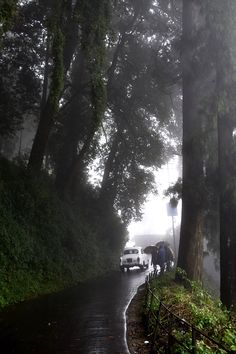 Taxi in Darjeeling , North of India. Beautiful, mysterious and thought provoking. Beautiful Roads, Beautiful Places To Travel, Beautiful Images, Travel Destinations In India, India Travel, Incredible India, Amazing Nature, Mussoorie, Himalaya