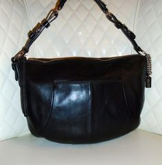 I'm auctioning '3 COACH Soho Black Leather Hipster Ergo Hobo Bag ' on #tophatter
