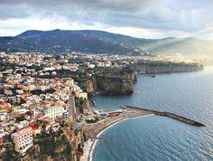 Sorrento...Amalfi Coast.  We drove the eastern seaboard from the Amalfi Coast to a Village Grosetto..then our Tuscan adventure began :)