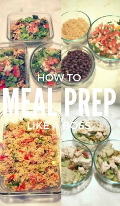 How to meal prep like a boss: find out how to make ten lunches and dinners plus snacks in under two hours! Save time and money while getting healthier!