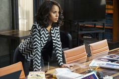 The 15 Best Fashion Moments from Scandal Season 5 - Episode 7: Armani Jacket, St. John Tank, and Ralph Lauren Trousers - from InStyle.com
