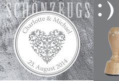 Einladungskarten - Stempel Herz 1 ø50mm Hochzeit :) personalisiert - ein…