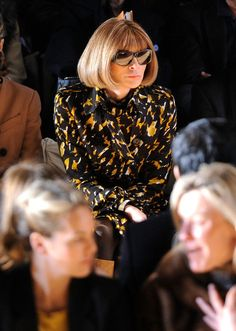 Anna Wintour attends the Michael Kors Fall 2012 fashion show during Mercedes-Benz Fashion Week at The Theatre at Lincoln Center