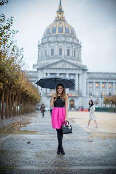 Pink & Black Dress - Gal Meets Glam