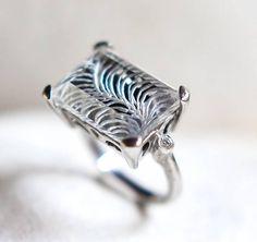 intaglio quartz ring  925 sterling silver ring rock crystal