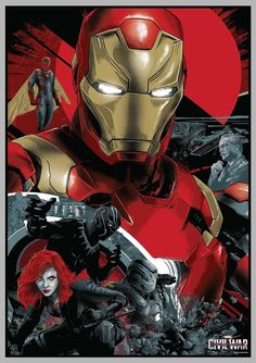 Captain America: Civil War Team Iron Man Poster by Vance Kelly Marvel Vs Dc Comics, Marvel Art, Marvel Heroes, Marvel Avengers, Marvel Fight, Hawkeye Marvel, Spiderman, Batman, Captain America Civil War
