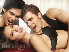 The Vampire Diaries' Ian Somerhalder, Nina Dobrev, and Paul Wesley