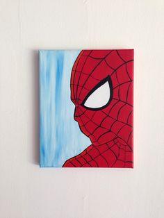 Spider-Man Marvel Acrylic Painting 8x10 by PaintTheStarsStudio on Etsy https://www.etsy.com/listing/230355845/spider-man-marvel-acrylic-painting-8x10