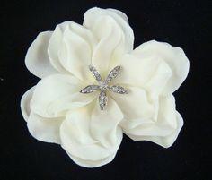 Light Ivory Bridal Hair Flower Beach Wedding Rhinestone Starfish Flower Clip | eBay