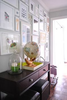 Whale Globe in Action at A Day Of Thrifting | Young House Love    @Janis La Crosse Are you drooling as much as I am?