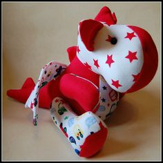 Keepsake Dragon made from your childs outgrown baby clothes - the perfect way to remember those early years!