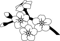 Forget Me Not Flowers Drawings Spring flower Material of