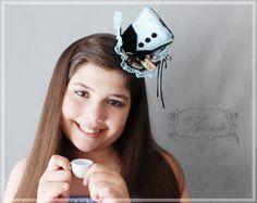 Alice Mini Hat  Mad Hatter Hat  Tea Party by LittleMissHattitude, $80.00