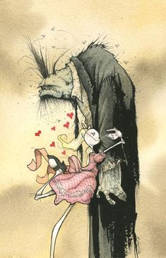 zombie affection gris grimly by Alex Pardee