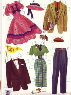 Sorry that the very bottom of the pages are cut off. Pink Prom Twins from Merrill Copyright 1956. One o...