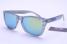 Best Oakley Frogskins Glasses For sale Grey and White Frame Colorful Lens Sales7373 $12.97 Save: 87% off