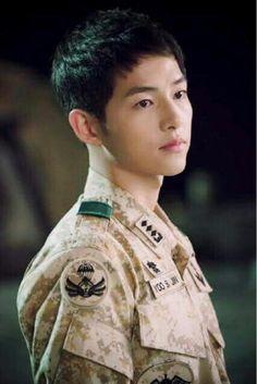 Descendants Of The Sun G Song, Song Play, Drama Korea, Korean Drama, Descendants, Asian Actors, Korean Actors, Song Joong Ki Dots, Dramas