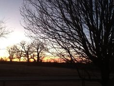 Sunset at Mama's in Fox, OK