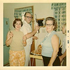 1966 in the kitchen - Ready for the accident to happen.