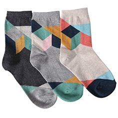 Womens Fashion Cotton Crew Socks Stripe Printing-3 to 7 pack * Learn more by visiting the image link. (This is an affiliate link and I receive a commission for the sales) #Clothing