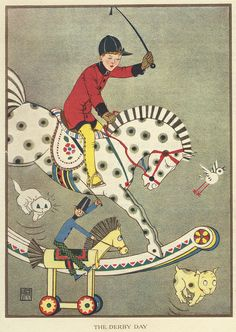 ":: Sweet Illustrated Storytime ::  Illustration by Joyce Mercer : ""The Derby Day"""