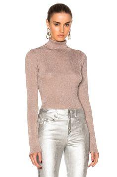 Image 1 of 3.1 phillip lim Lurex Turtleneck Sweater in Blush