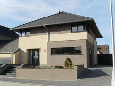 dom nowoczesny Dream House Exterior, Dream House Plans, Dream Home Design, House Design, Grey Houses, Home Fashion, Exterior Design, Sweet Home, Mansions