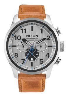 Safari Dual Time Leather | Men's Watches | Nixon Watches and Premium Accessories