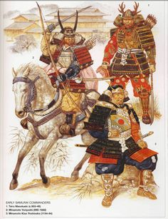 Samurai c. 900-1180 A.D. ///  EDITOR'S NOTE: WHY ARE ALL MY RE-PINS ABOUT FIGHTING/WAR? UHHHHH MAYBE BECAUSE IT'S SOOOOOO DOPE!?!?!?!?!?!?