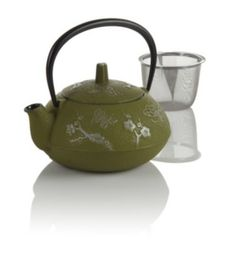 Butterfly Cast Iron Teapot~ more to choose from at Teavana~ keeps your brew hot for an hour, yes please