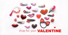 Hair hair clips for #valentine's day