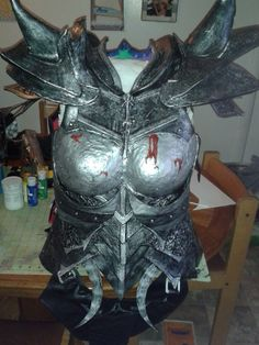 Daedric armor from Skyrim. Took me about 2 months to complete. Made from Kobracast and craft foam.