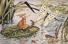 """""""When your heart is full of love, you're nine feet tall.""""  Beautiful Thumbelina with Butterfly - The Graphics Fairy"""