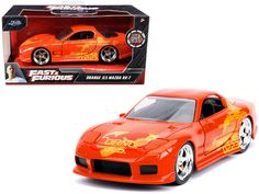 Julius' Mazda RX-7 Orange Metallic Diecast Car #Unbranded Fast Furious Series, Fast And Furious, Cool Gifts, Best Gifts, Awesome Gifts, Orange Julius, Diecast Model Cars, Mazda, The Unit
