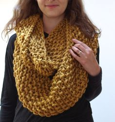 THE BEECH cowl / chunky knit warm knitted scarf / by purlknitting