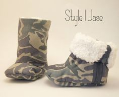 CAMO Baby Boots, Baby Boy Boots, Baby Girl Booties, Soft Sole Baby Boots, Infant Shoes