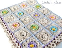Dada's place: Little flowers baby blanket