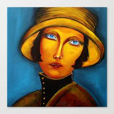 Madeleine Stretched Canvas by agnes Trachet - $85.00